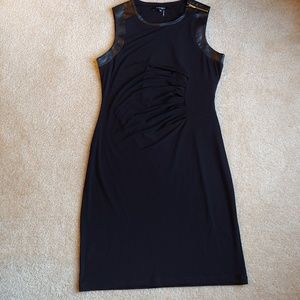Ellen Tracy black formal side scrunch dress